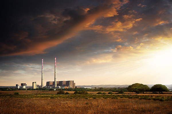 Building Photograph - Thermoelectrical Plant by Carlos Caetano