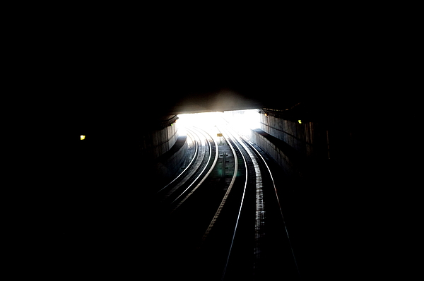 Tunnel Photograph - Therz Always Light At The End Of The Tunnel by Sateesh Challa