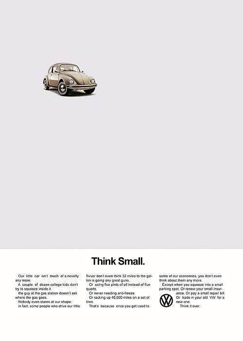Volkswagen Beetle Photograph - Think Small by Mark Rogan