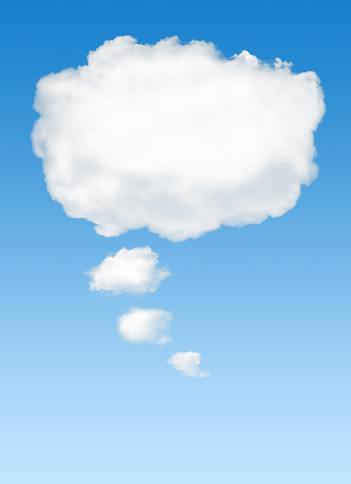 Background Photograph - Thinking Cloud by Carlos Caetano