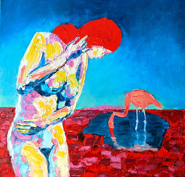 Nude Painting - Thinking Woman by Ana Maria Edulescu