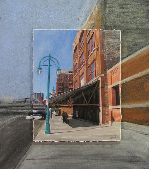 Milwaukee Mixed Media - Third Ward - Market Street by Anita Burgermeister