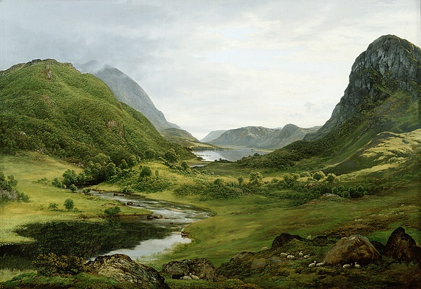 Thirlmere Painting - Thirlmere by John Glover