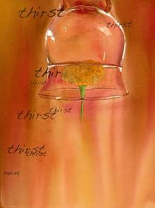 Thirst Painting by Israel Reza