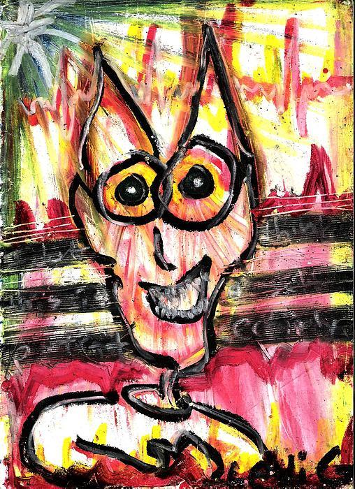 Cartoon Cat Pastel - This Aint Me by Levi Glassrock