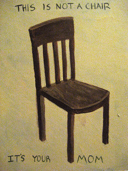 Chair Painting - This Is Not A Chair by Rick Kitagawa
