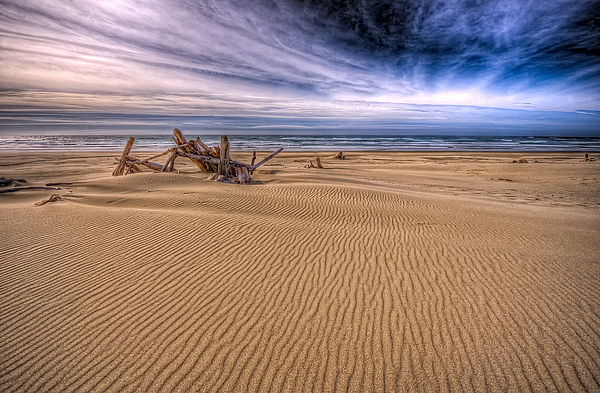 Oregon Photograph - This Is Oregon State No.17 - Florence Beach by Paul W Sharpe Aka Wizard of Wonders