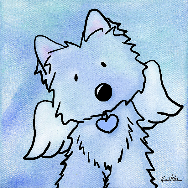 Westie Painting - This Isnt Goodbye by Kim Niles