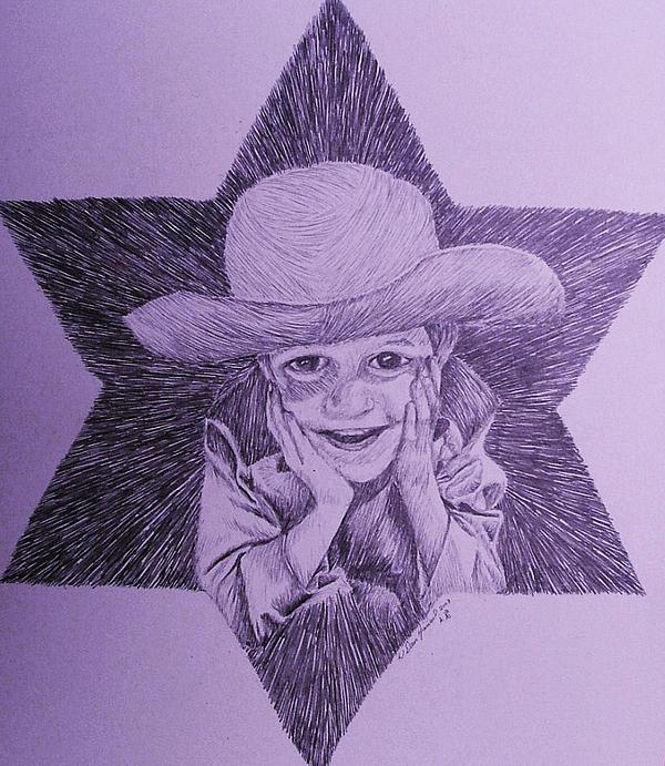Children Drawing - This Kid Is A Star by Dan Hausel
