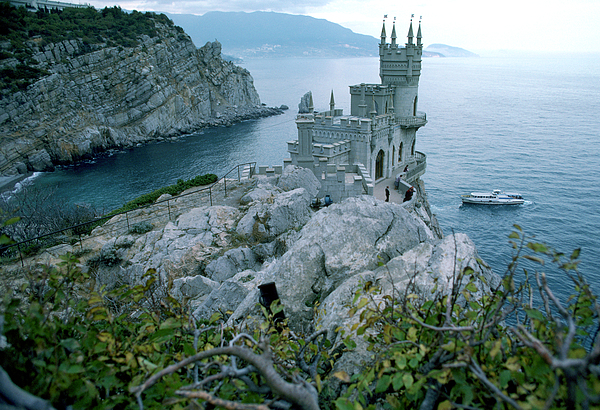 Commonwealth Of Independent States Photograph - This Neo-gothic Castle Overlooks by Steve Raymer