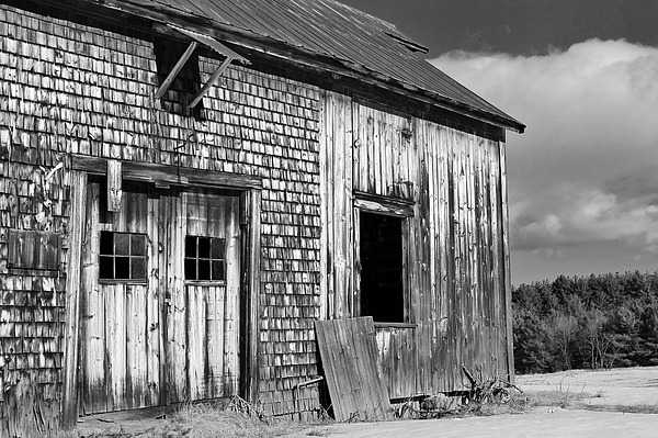 This Old Barn Black And White Photograph By Joe Martin