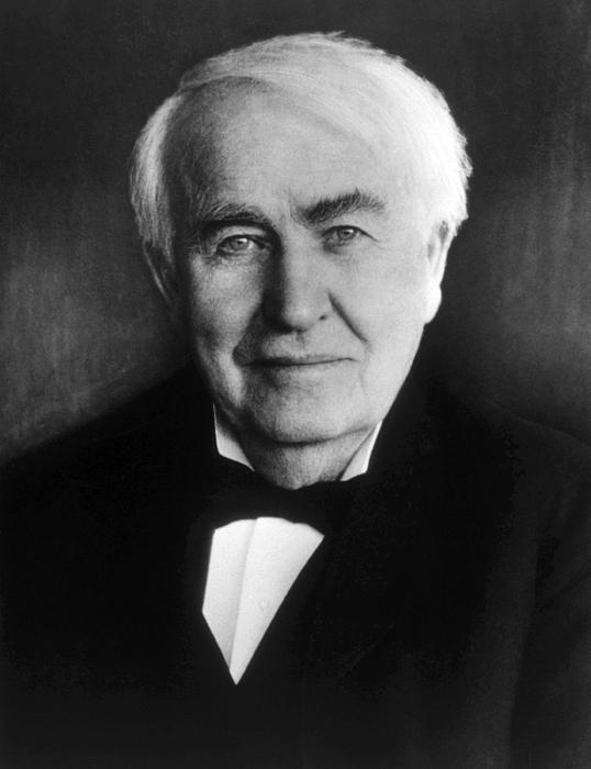 Edison Photograph - Thomas Alva Edison 1847-1931 by Everett