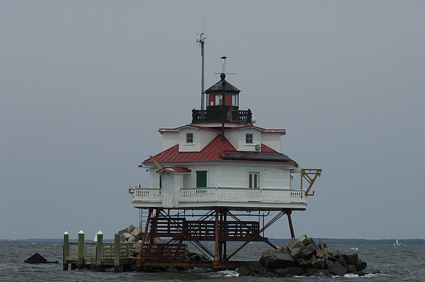 Day Photograph - Thomas Point Shoal Lighthouse by Paul Sutherland
