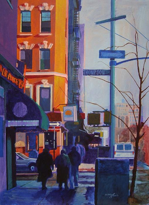 Thompson Street Painting by John Tartaglione