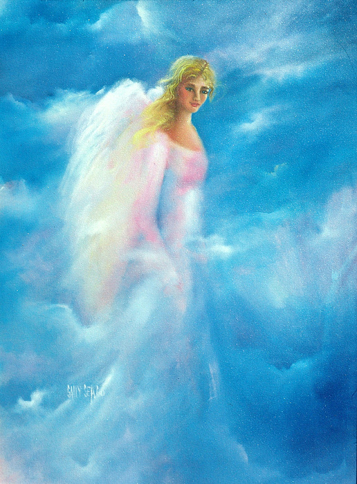 Angels Painting - Thoughts Of Kimber by Sally Seago