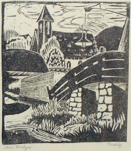 Landscape Print - Three Bridges by Jessie Beard Rickly