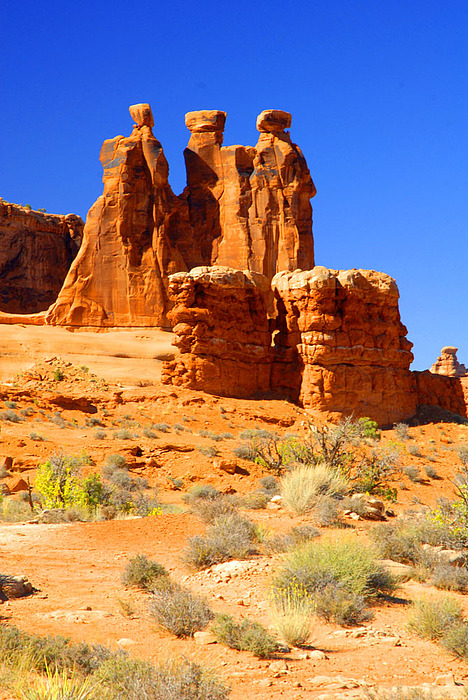 Arches Photograph - Three Gossips by Dennis Hammer