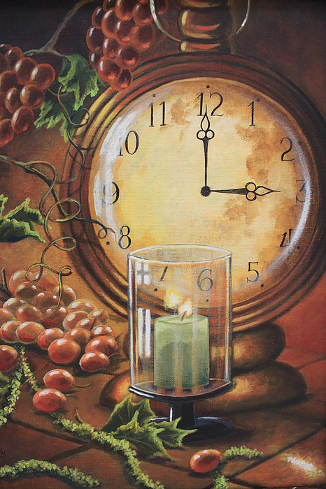 Three O Clock Painting By Diana Miller