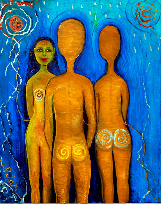 Nude Painting - Three People by Pilar  Martinez-Byrne