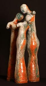 Ceramics Sculpture - Three Sisters by Nancy Pirri