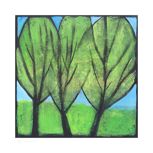 Trees Painting - Three Sisters by Tim Nyberg