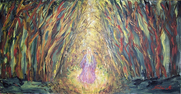 Mary Sedici Painting - Through The Dark Forest by Mary Sedici