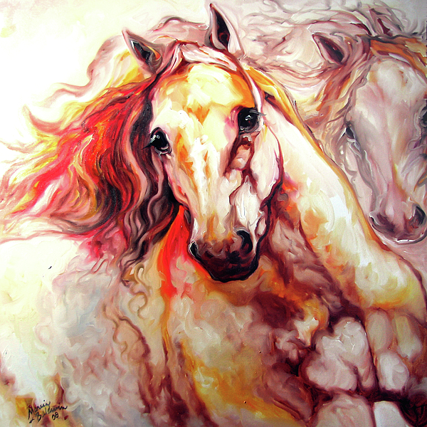 Horse Painting - Thunder 24 by Marcia Baldwin