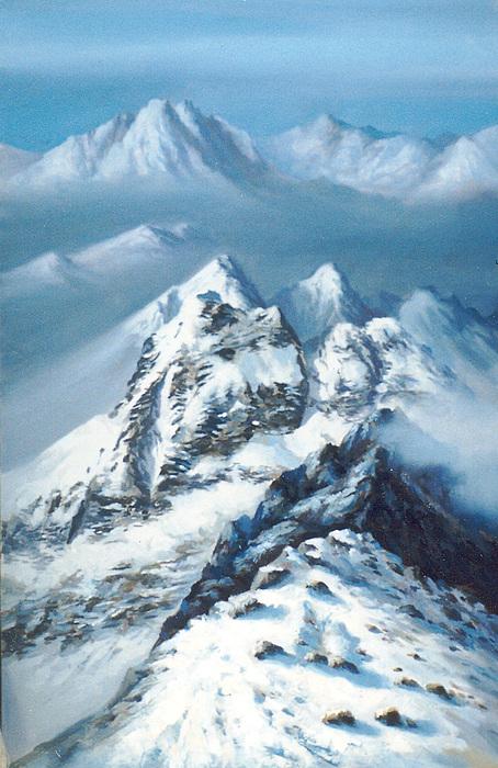 Tibet Painting by Alexander Bogomazov