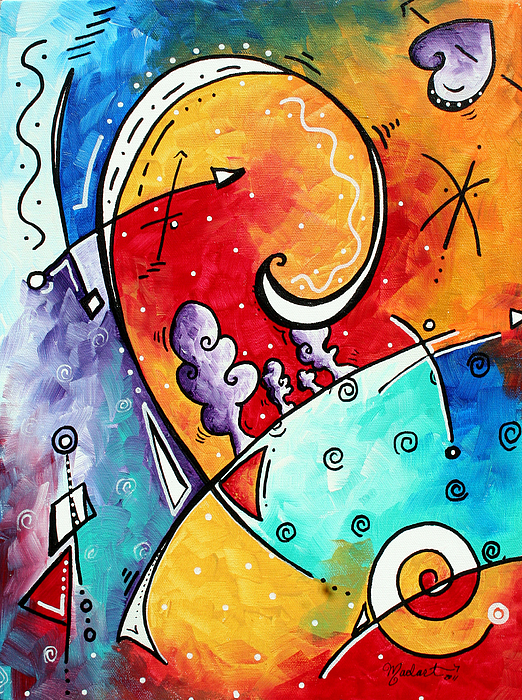 Original Painting - Tickle My Fancy Original Whimsical Painting by Megan Duncanson