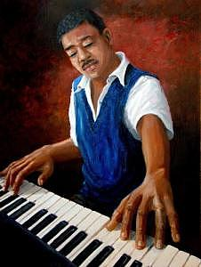 Music Painting - Tickling The Ivories  by Romeo Downer