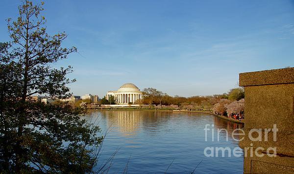 Washington Photograph - Tidal Basin And Jefferson Memorial by Megan Cohen