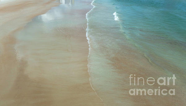 Beach Photograph - Tidal Reflections by Judy Hall-Folde