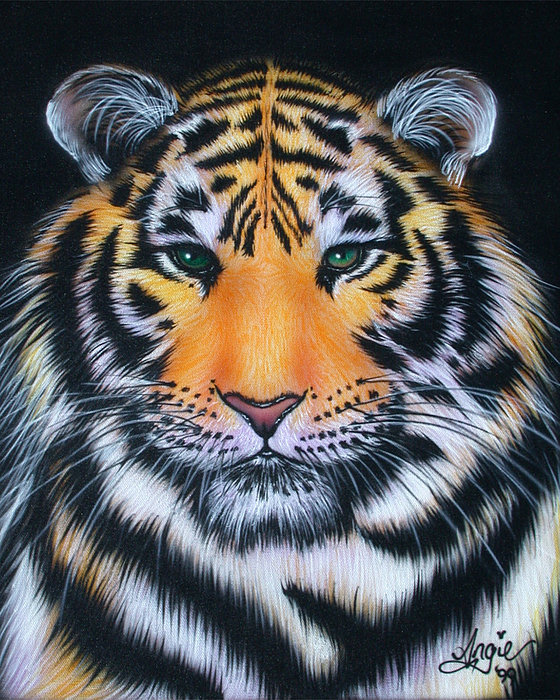 Tiger Painting - Tiger 1 by Angie Hamlin