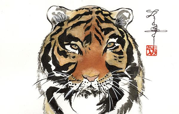 Tiger Painting - Tiger by Linda Smith