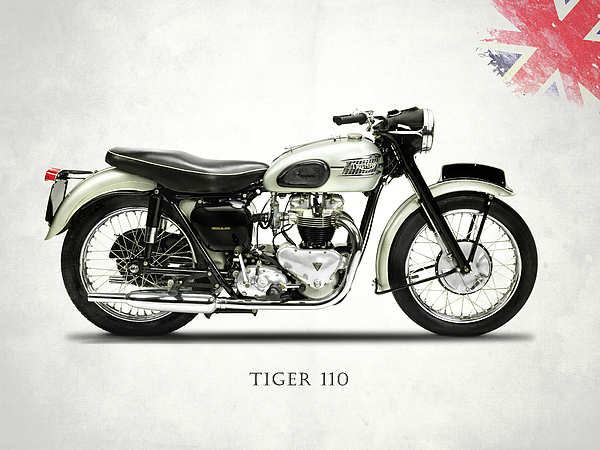 Triumph Tiger Photograph - Tiger T110 1957 by Mark Rogan