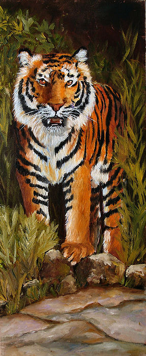 Tiger Painting - Tiger Wildlife Art by Mary Jo Zorad