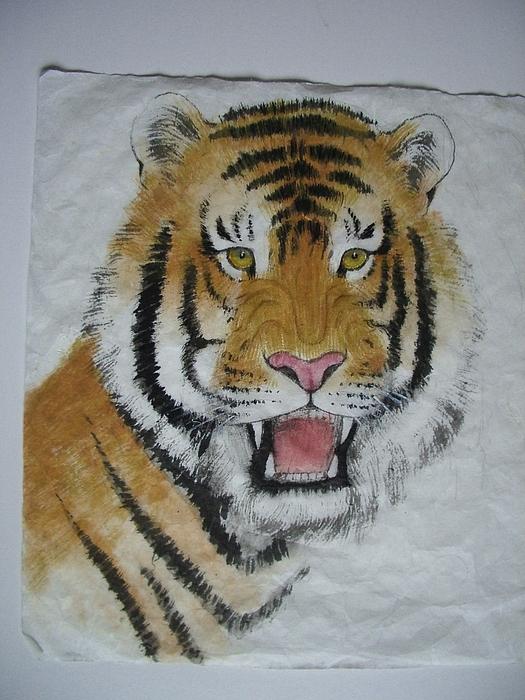 Tiger Painting - Tiger5 by Jian Hua Li