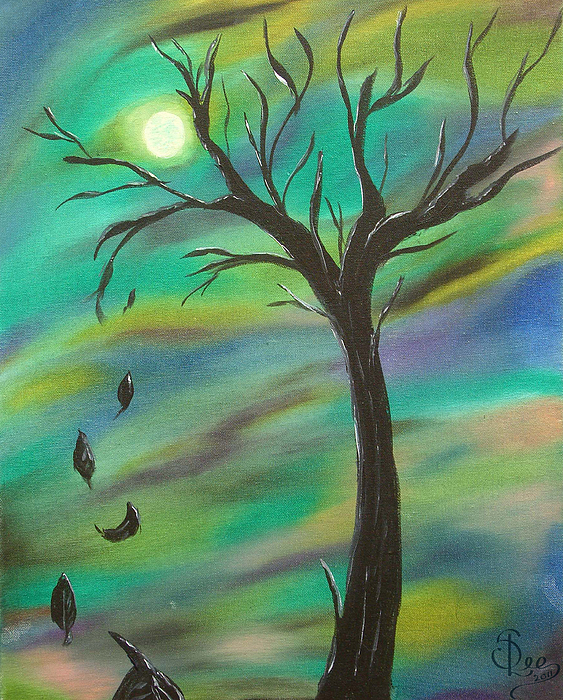 Tim Burton Painting - Tim Burton Tree by Sesha Lee