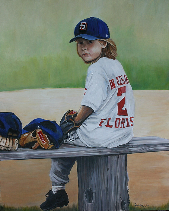 Portrait Painting - Time On The Bench by Charlotte Yealey
