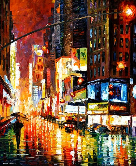 City Painting - Times Square by Leonid Afremov