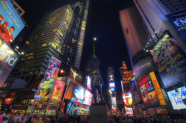 For Sale Photograph - Times Square Moonlight by Yhun Suarez
