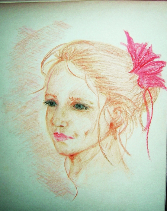 Portrait Pastel - Tiny Ballerina by Deborah Gorga