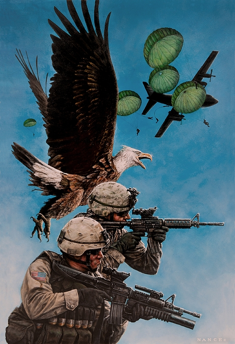 America Painting - Tip Of The Spear by Dan  Nance