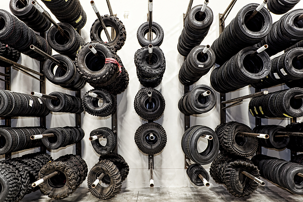 Tires Photograph - Tire Rack by Kelley King