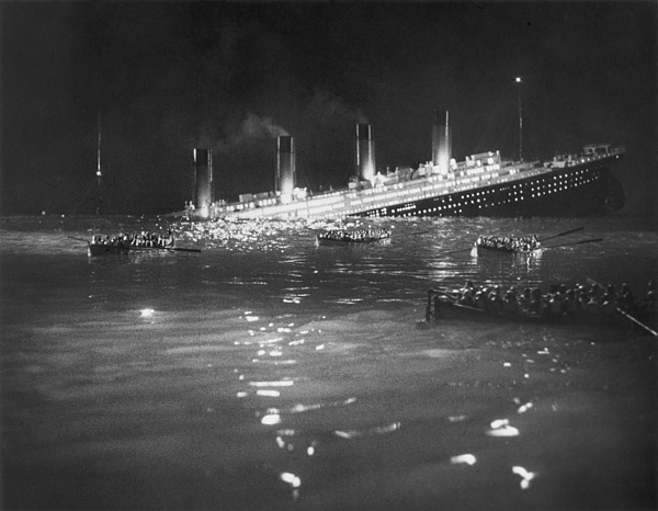 1912 Photograph - Titanic: Re-creation, 1912 by Granger