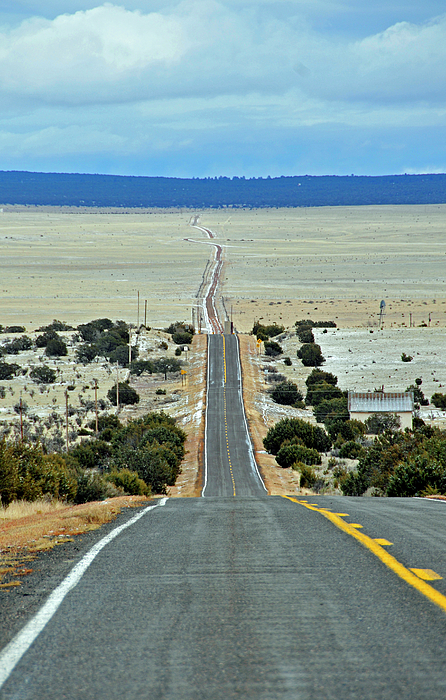 Road Photograph - To Eternity by David Arment