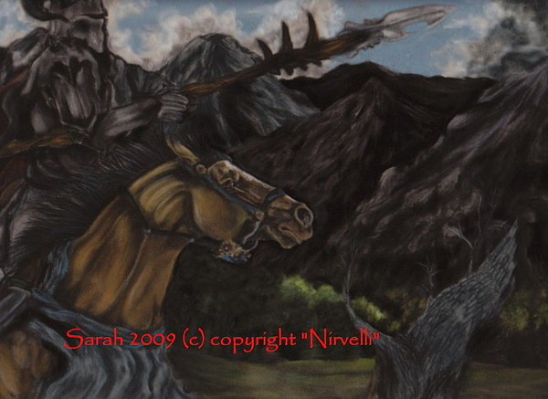 Horse Painting - To Find A Dragon by Sarah Whittington