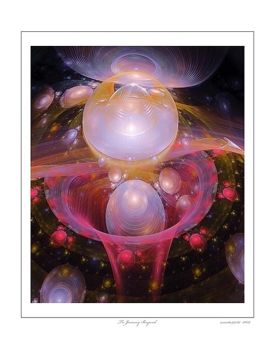 Fractal Digital Art - To Journey Beyond by Gayle Odsather