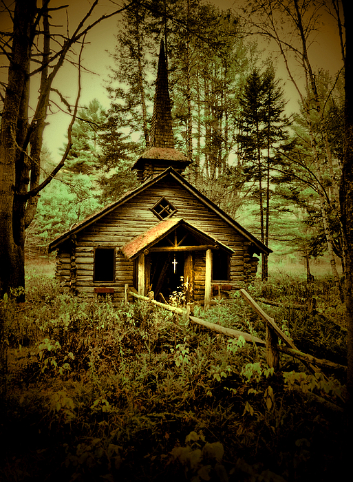 Abandoned Photograph - To Pray by Emily Stauring