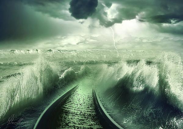 Aqua Photograph - To The Sea by Svetlana Sewell